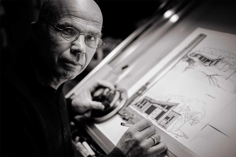 Tegner og ideskaper Arnt Darrud